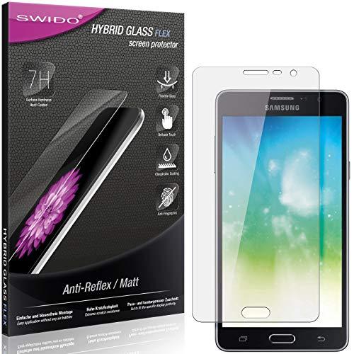 SWIDO Panzerglas Schutzfolie kompatibel mit Samsung Galaxy On7 Pro Bildschirmschutz Folie & Glas = biegsames HYBRIDGLAS, splitterfrei, MATT, Anti-Reflex - entspiegelnd