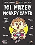 monkey maze book for kids ages 4-8: 101 puzzle pages. custom art interior. cute fun gift! super kidz. videogame gamer.