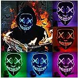 HONGXUNJIE Halloween LED Purga Mascara Carnaval Terror MáScaras,MáScara Disfraz Luminosa,para Carnival Navidad...