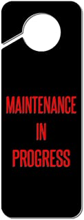 Graphics and More Maintenance in Progress Plastic Door Knob Hanger Sign