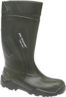 Dunlop Purofort + Unisexe Non-Sécurité Bottes Caoutchouc Vert