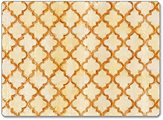 CounterArt Hardboard Placemat, Antique Quatrefoil, Set of 2