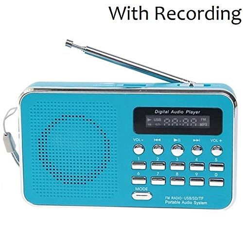SaleOnTM Rechargeable Radio Outdoor Speaker with FM Radio & TF Cards, SD Cards AUX,USB Support and Song Recording Portable Radio 1262