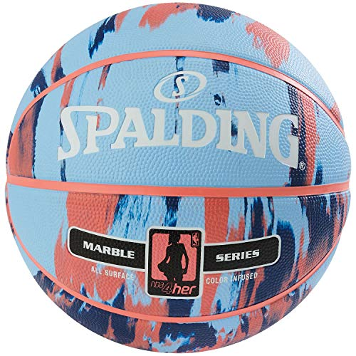 Spalding NBA Marble 4HER out SZ.6 (83-879Z) Basketballs, Juventud Unisex, Multicolor, 6