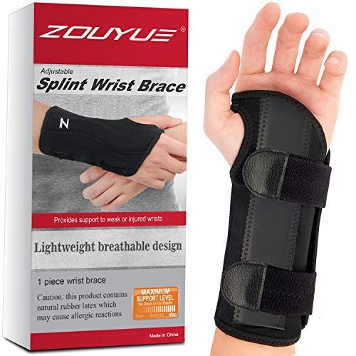 ZOUYUE Wrist Brace Support Adjustable & Breathable Wrist Splint for Carpal...