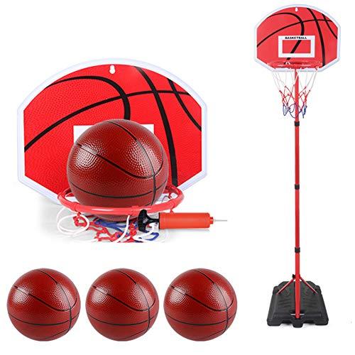 WYZDQ Kinder Junior Basketballkorb Set, verstellbare Höhe von 80 cm bis 240 cm, Übung Sport Spiele für Kinder Geschenk