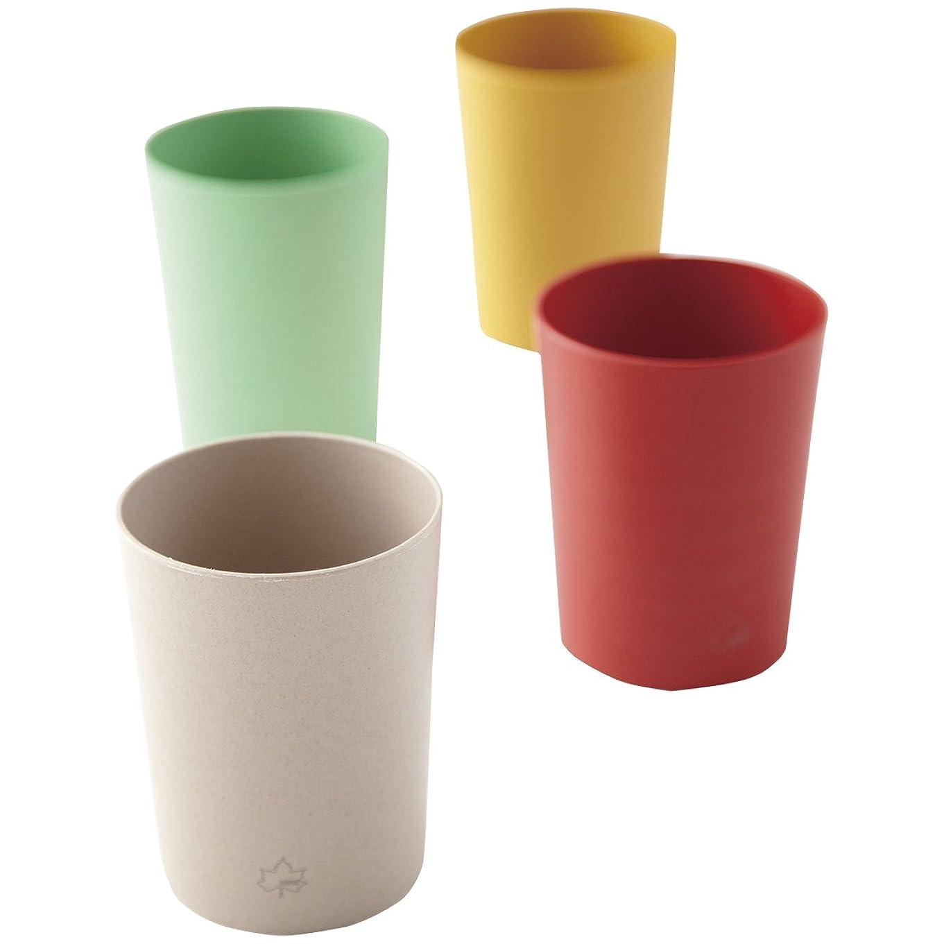 光のリビングルーム骨折ロゴス 食器セット 抗菌バイオプラントカップ(4色セット) 81285017