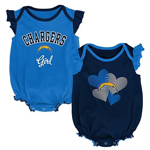Outerstuff NFL Newborn & Infants Celebration 2 Piece Creeper Set, Los Angeles Chargers 24 Months