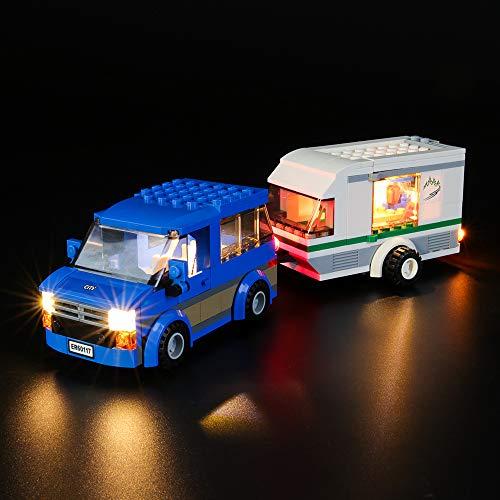BRIKSMAX Led Beleuchtungsset für Lego City Van und Wohnwagen,Kompatibel Mit Lego 60117 Bausteinen Modell - Ohne Lego Set