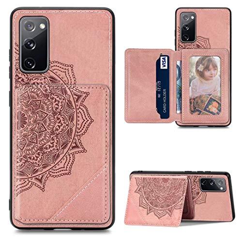 Ufgoszvp Funda compatible con Samsung Galaxy M31, con diseño de mandala, piel sintética, función atril, cierre magnético