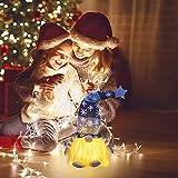 wojonifuiliy Leuchtender Weihnachts-Wichtelpaar Weihnachten Deko Wichtel für die Weihnachtsdeko, Weihnachtsmann Santa Gnom Dwarf Schwedische Tischdeko für Familie Weihnachtsdekoration (Grau) - 3