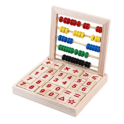 Weisin Juguete de ábaco para niños, cálculo de Alfabeto de Madera, Bloques de conteo de matemáticas, Juguetes educativos tempranos