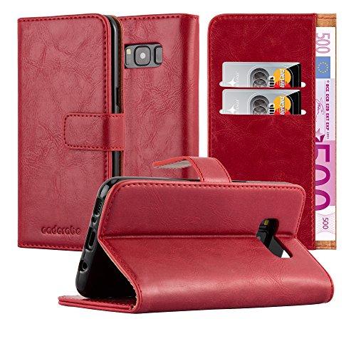 Cadorabo Funda Libro para Samsung Galaxy S8 Plus en Rojo Burdeos - Cubierta Proteccíon con Cierre Magnético, Tarjetero y Función de Suporte - Etui Case Cover Carcasa