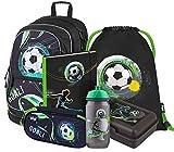 Mochila escolar Set 5 piezas para niños y niñas, mochila escolar a partir de 3ª clase, escolar primaria con correa para el pecho, mochila ergonómica