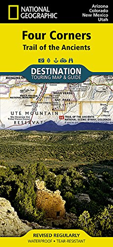 Four Corners [Trail of the Ancients] (National Geographic Destination Map)