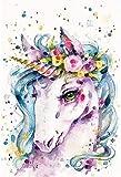 DIY 5D Kit de pintura de diamante por número, taladro completo unicornio animal bordado...