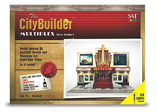 The CityBuilder O Gauge 7 mm Maßstab 1:43 Modelleisenbahn Gebäude Multilex (Low Relief) LED-Kit