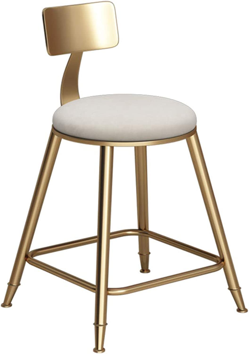Barstools Chair Footstool Backrest White Sponge Pad Dining Chair Kitchen   Bar   CaféBarCounter Stool Loading 150 Kg (Size   43x43x45cm)