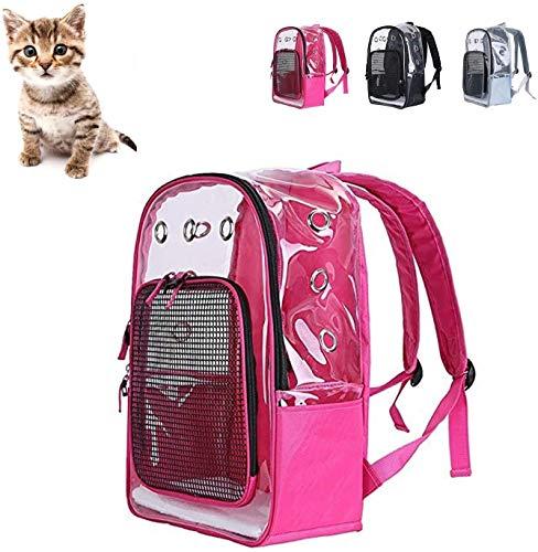 Transportin gato Claro mascota gato portador del morral del animal doméstico plegable...