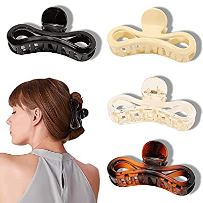 Large Hair Claw Clips for Women - Banana Big Hair Clips for Thick Hair