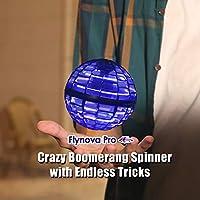 Flynova Pro Flying Spinner 2020 Upgrade Flight Gyro Toy - Flying Boomerang Spinner with Endless Tricks! Dynamic RGB Lights Drop Resistant 30 Mins Battery Life Flynova ProBoomerang