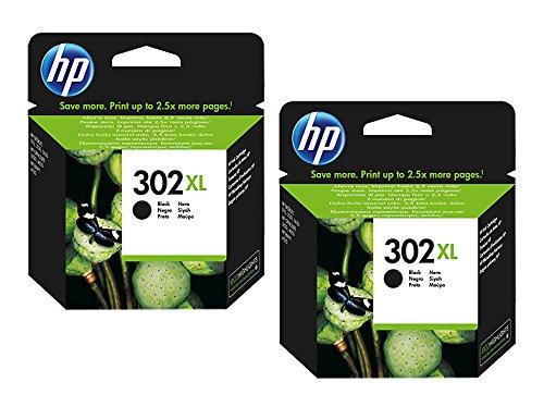 HP, cartuccia d'inchiostro originale F6U66AE HP 302 HP302 per HP Officejet 4650, circa 190 pagine/5%, colore: nero (07) 2x XL Tintenpatrone - Black