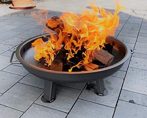 Czaja Stanzteile Feuerschale Kiel Ø 60 cm - mit verstärktem Rand - Feuerschalen für den Garten, Terrasse und Balkon, Feuertonne und Feuerkorb , kleine Feuerstelle für den Garten…