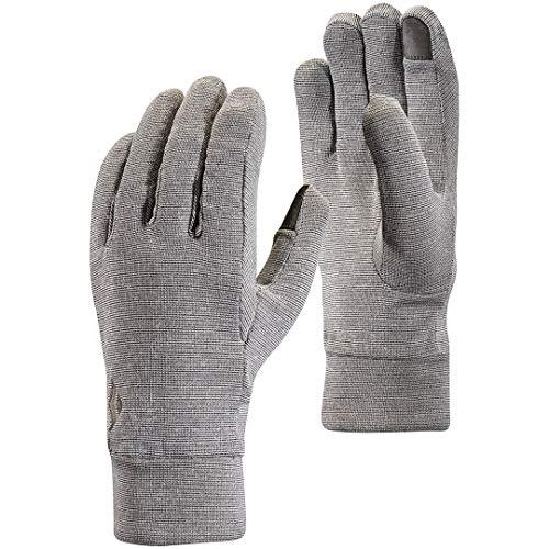 Black Diamond Lightweight Wooltech Handschuhe für sportliche Aktivitäten / Leichter Innenhandschuh aus Fleece & Wolle mit digitalen Fingern / Unisex, Slate, Größe: XS