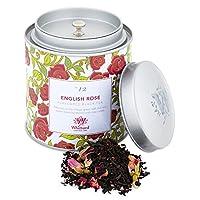 英国 Whittard (ウィッタード) フレーバーティー イングリッシュローズ リーフティー ギフト缶 Tea Discoveries English Rose Caddy [並行輸入品]
