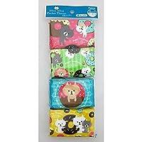 ポケットティッシュ キャラクター ミニミニサイズ 香り付 16枚(8組)×8袋入