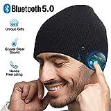 Idea regalo per donne e uomini: I cappello EVERSEE Wireless Bluetooth sono composti da materiale estremamente morbido, tessuto esterno in tessuto e lana all'interno, vi offre il massimo comfort e calore, perfetto accessorio di moda alla moda in inver...