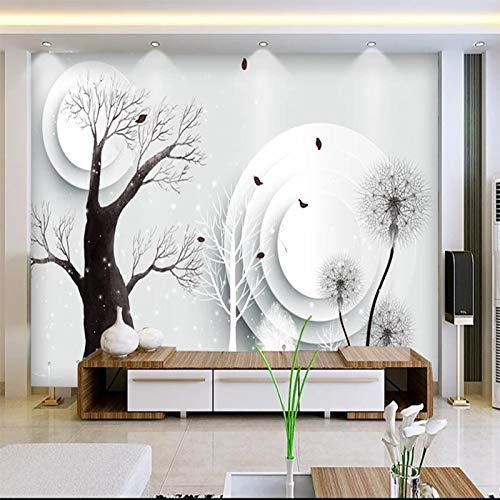 Msrahves Foto Mural Pared 3D Gran árbol abstracto creativo moderno Decorativos Murales Moderna Papel Pintado 3D Fotomural 3D Murales Papel Tapiz Pared de Fondo de TV Wallpaper