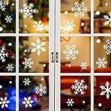 Tuopuda Navidad Pegatinas de pared Calcomanías de Ventana de Copo de Nieve Pegatinas de PVC para Ventanas Vidrios Navidad Decoración Decoración de la Pared (81 pcs copo de nieve)