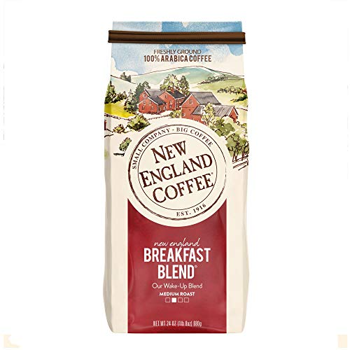 New England Coffee New England Breakfast Blend Medium Roast Ground Coffee 24 oz. Bag