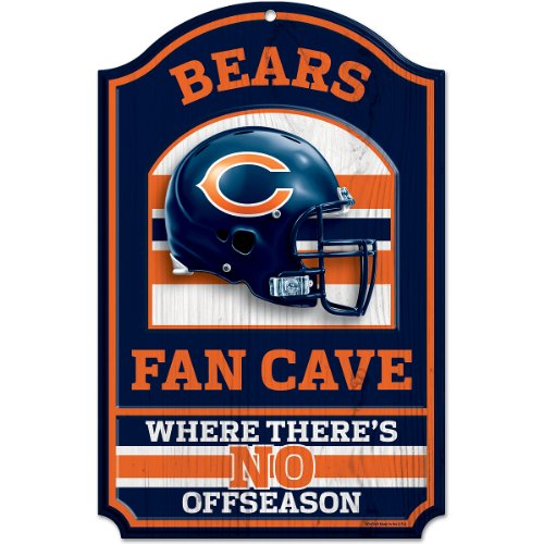 NFL Chicago Bears Fan Cave Wood Sign, 11