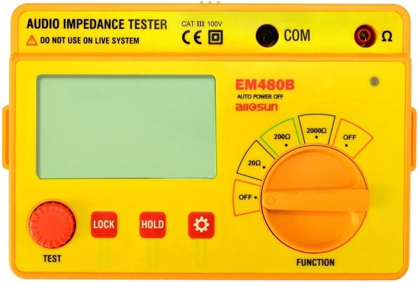 Beauty products YEZIQ Digital Tester EM480B Challenge the lowest price Audio Tes CATIII 3 Impedance
