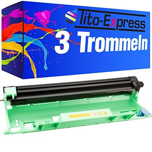 Tito-Express Platinum Serie 3 Trommels XXL compatibel met Brother DR-1050 DR1050 DR 1050 DCP-1512A DCP-1601 DCP-1612W HL-1110E HL-1110 HL-1112 HL-1201 HL-1211W HL-1212W MFC-1815 MFC-1910W