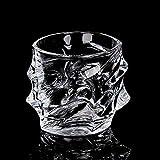 kyman Coplas de Vino de la Barra de Whiskey de Whisky Coplas de Vino Creativo Gafas Gruesas Phnom Phnom Penh Cristal de Cristal Jugo de Fruta de Cristal Vidrio de Cerveza, Plata Rim Cup, 301-400ml