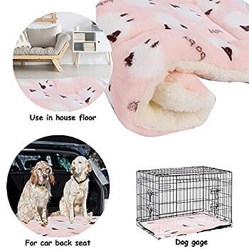 Vejaoo Flanelle Douce et Chaude Couverture Chaude, épaisse Couverture de Chien Tapis de Chat XZ006 (69 * 52 CM, Pink)
