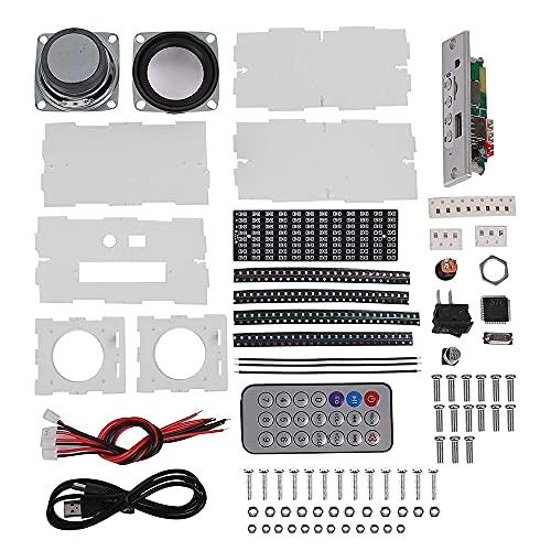 DIDILI Kit de Altavoz DIY Proyecto de Soldadura Espectro USB Amplificador de Sonido ElectróNico Altavoz EstéReo para el Hogar Kits de Bricolaje