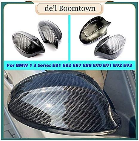 Copri Specchietto Car Rear-specchio di vista laterale della copertura for il BMW 1 Serie 3 E81 E82 in fibra di carbonio E87 E88 E90 E91 E92 E93 Covers criterio di sostituzione Calotte Specchietti