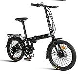 Cacoffay Acampar Adulto Plegable Bicicleta para Hombres Mujer 20 Pulgada 7 7 Velocidad Orbita Doble Dto Freno Portátil Bicicleta