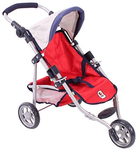 Bayer Chic 200061295Jogging Buggy Lola, muñeca Carro, Color Rojo