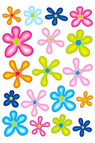 carstyling XXL Autocollant Set des fleurs 300 x 200 mm bariolées