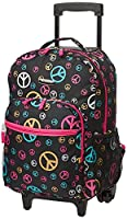 Rockland Double Handle Rolling Backpack,