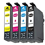 502xl druckerpatronen Ersatz für Epson 502 XL Multipack für Epson Expression Home XP-5100 XP-5105 XP5100 XP5105 Workforce WF-2860 WF2860 DWF WF-2865 WF2865 DWF (4er)
