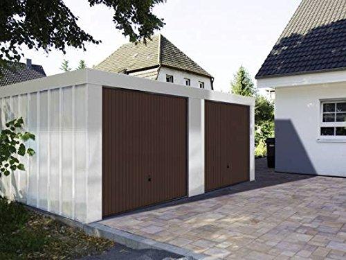 *Doppelgarage 5,23 x 5,27 x 2,18 m mit braunen Toren von Hörmann*