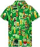 V.H.O Funky Hawaiian Shirt, Beerbottlegreen, L