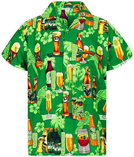 V.H.O. Funky Camisa Hawaiana, Beerbottle, Verde, L