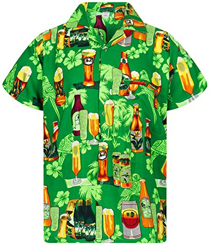 Funky Hawaiihemd, Beerbottlegreen, 5XL